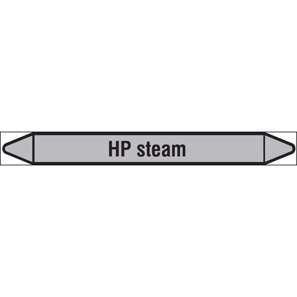 N009523 Brady Black on Grey HP steam Clp Pipe Marker On Roll
