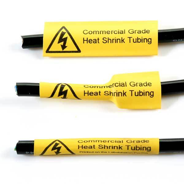 Q-HST95YW - Yellow Heat Shrink Tubing - 9.5mm - Labelzone