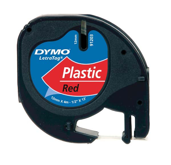 Dymo LetraTag S0721630 Tape 12mm Cosmic Red Plastic - Labelzone