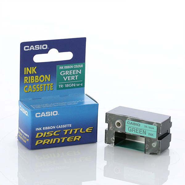 Casio TR-18GN - 18mm Green Print Ribbon - Labelzone