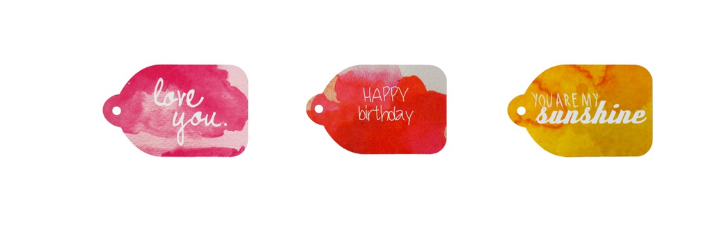 WATER COLOUR GIFT TAG