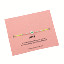 Load image into Gallery viewer, BEAD HEART LOVE BRACELET