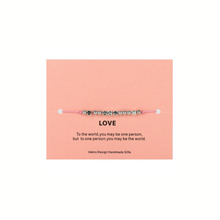 Load image into Gallery viewer, MORSE CODE LOVE BRACELET