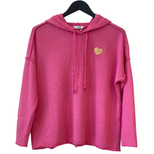 Load image into Gallery viewer, HOODY TRACK TOP WITH HEART