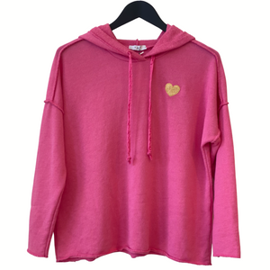 HOODY TRACK TOP WITH HEART