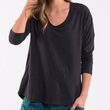 Load image into Gallery viewer, STRAHAN V-NECK RIB TEE
