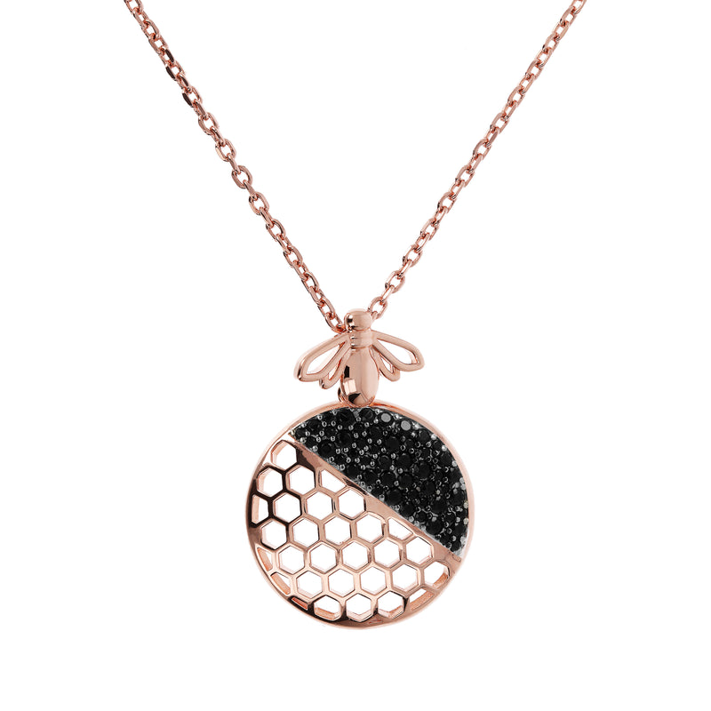 Beehive-and-White-Cubic-Zirconia-Yellow-Gold-Necklace_necklaces_black_BS