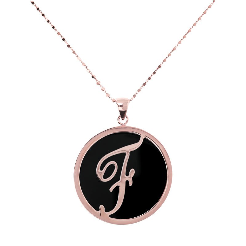 "Large-Custom-Initial-""Z""-Pendant-Necklace-with-Black-Onyx_necklaces_black_F"
