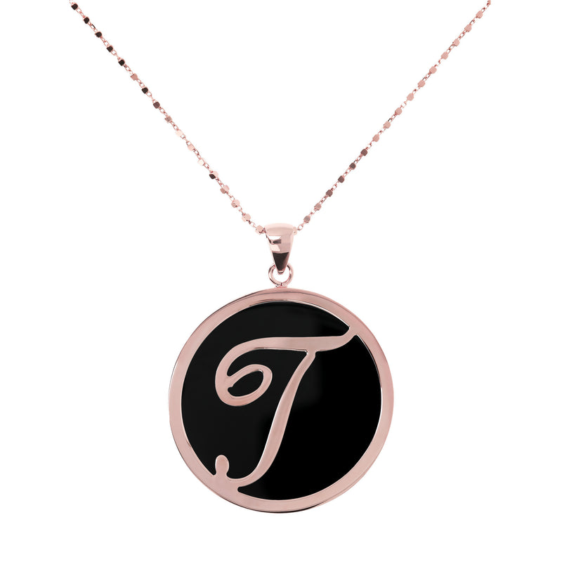 "Large-Custom-Initial-""Z""-Pendant-Necklace-with-Black-Onyx_necklaces_black_T"