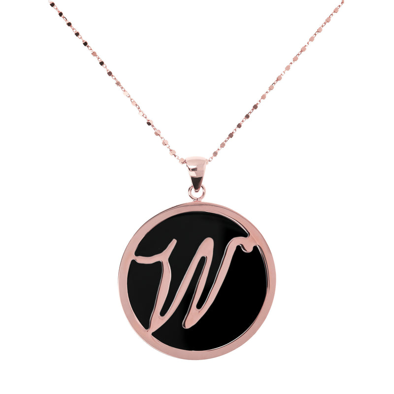 "Large-Custom-Initial-""Z""-Pendant-Necklace-with-Black-Onyx_necklaces_black_W"