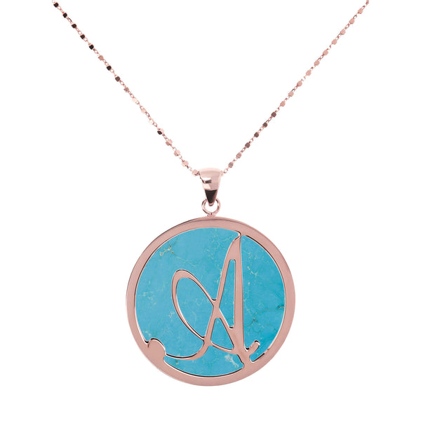 "Large-Custom-Initial-""Z""-Pendant-Necklace-with-Magnesite_necklaces_light-blue_A"