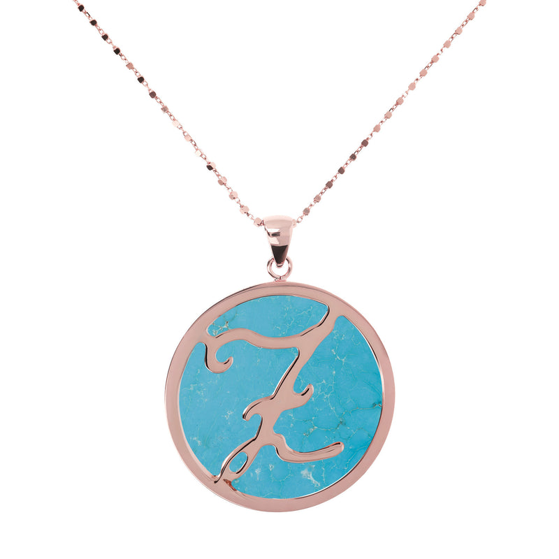 "Large-Custom-Initial-""Z""-Pendant-Necklace-with-Magnesite_necklaces_light-blue_Z"