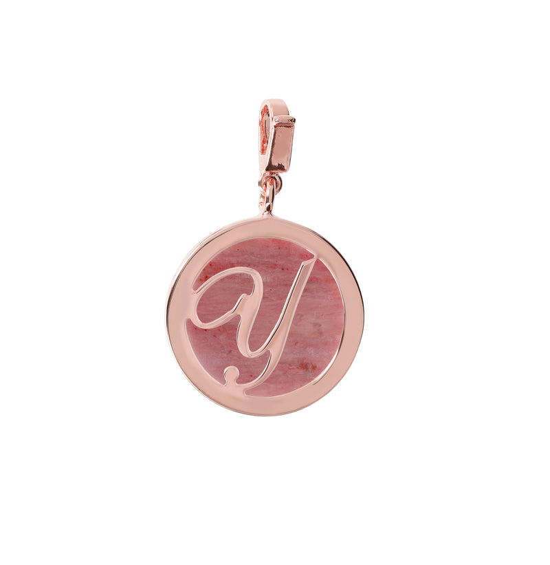 "Letter-""Y""-Charm-in-Rhodonite_charms_red_Y"