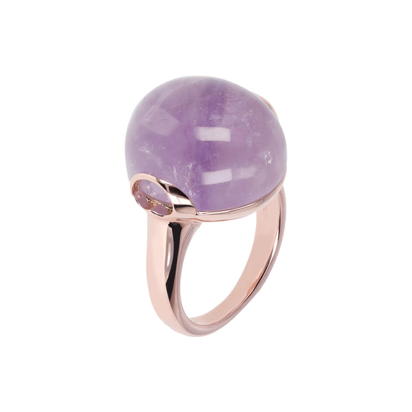 Cabochon Ring with Genuine Stone