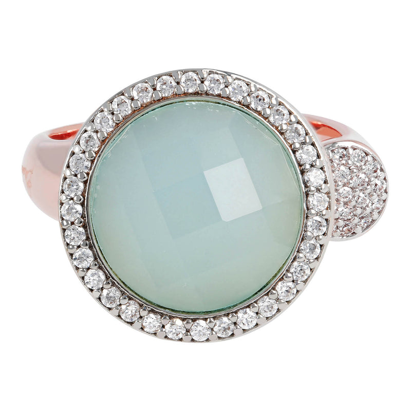Open Ring with Gemstones