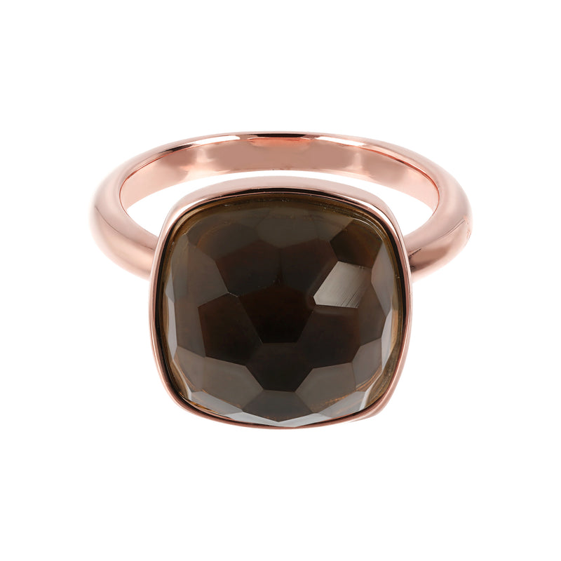 Maxi Square Faceted Stone Cocktail Ring