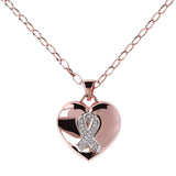 Heart and Ribbon Charm Rolò Necklace