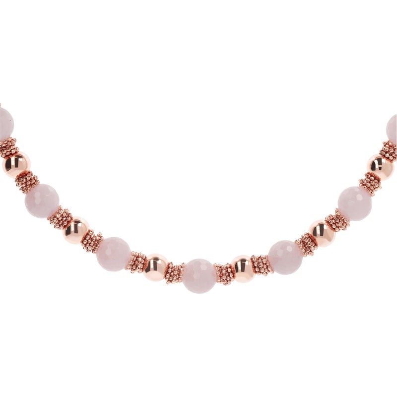 Rose Quartz Necklace with Beads
