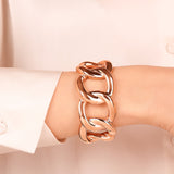 Bold Chain Open Bangle