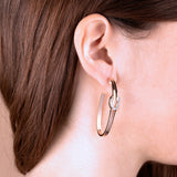 Pavé Knot Hoop Earrings