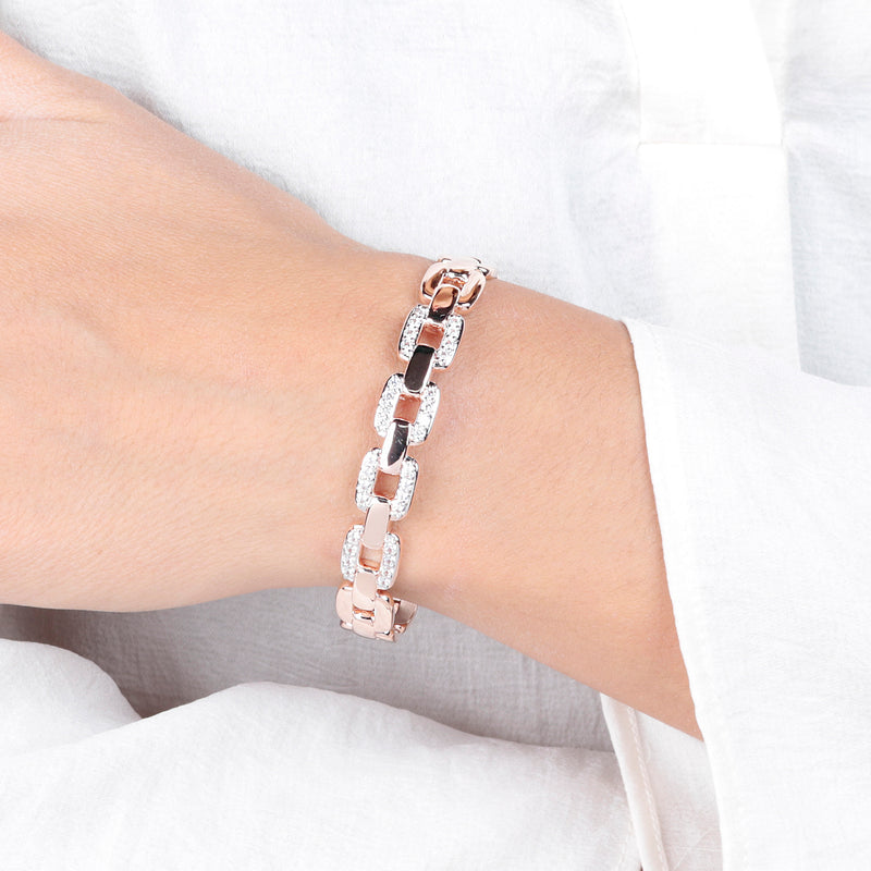 Marine Chain Bracelet with Pavé Detail
