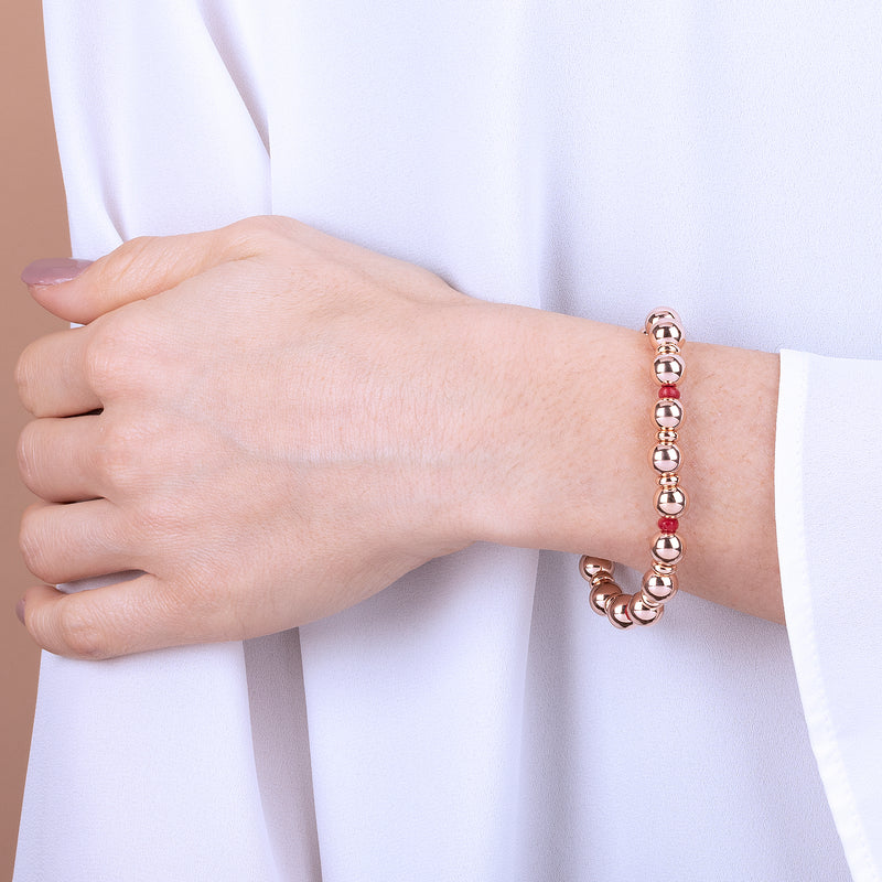 Stretchable Bracelet with Gemstone and Beads