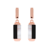 Bicolor Carré Gemstones Earrings