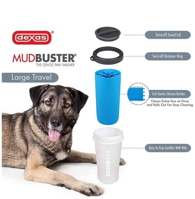 MudBuster Paw Cleaner with Travel Lid   AFTER HOLIDAY SALE!!!