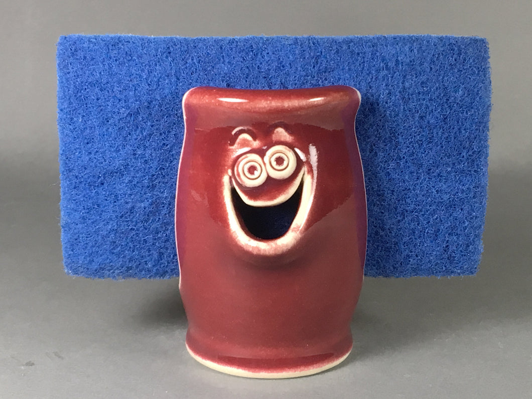 Burgundy Red Sponge Holder