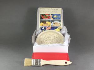 Buttermilk Color Garlic Grater Dish Kit