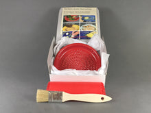 Load image into Gallery viewer, Crimson Red Ceramic Garlic Grater Dish Kit