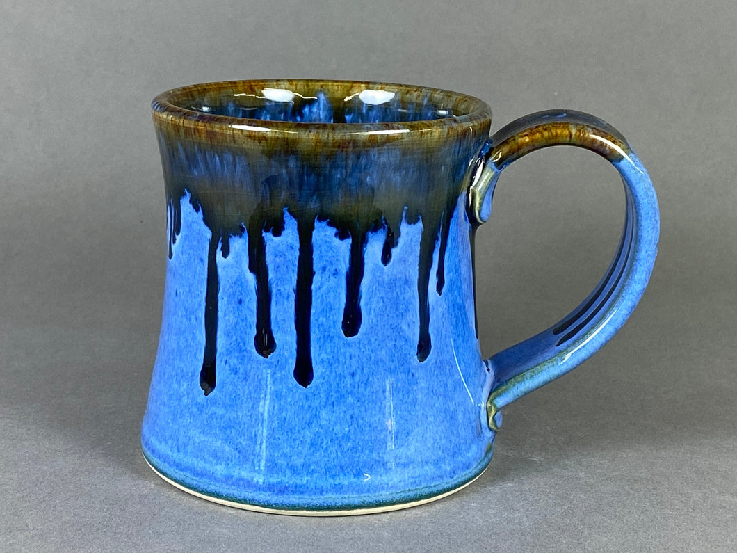 10-11oz Mug, Light Indigo/Brown