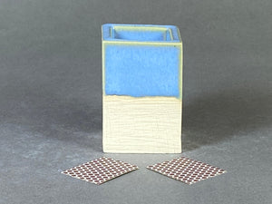 Powder Blue Matchstick Holder