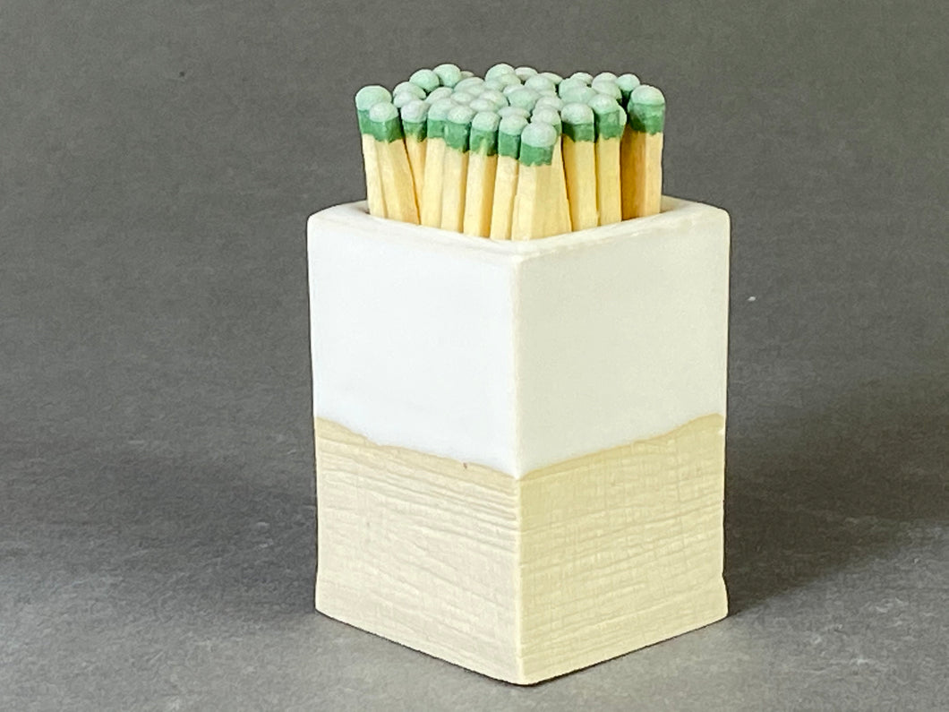 White Matchstick Holder