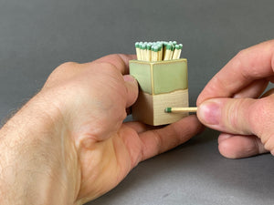 Sage Green Matchstick Holder