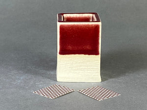 Maroon Red Matchstick Holder