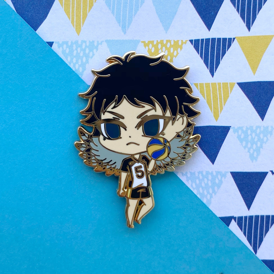 Rice Ball Owl Volley Boy Pin