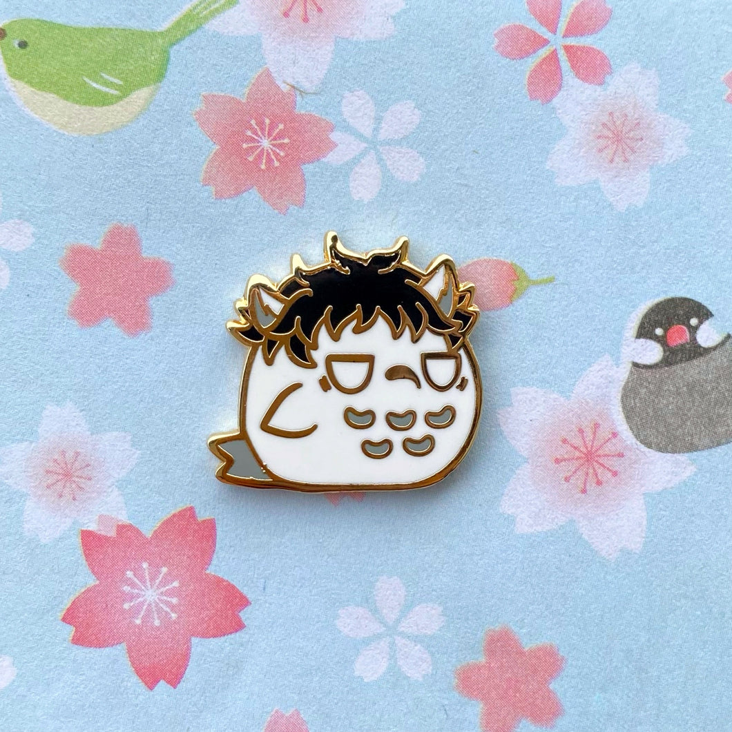 Rice Ball Owl Pin