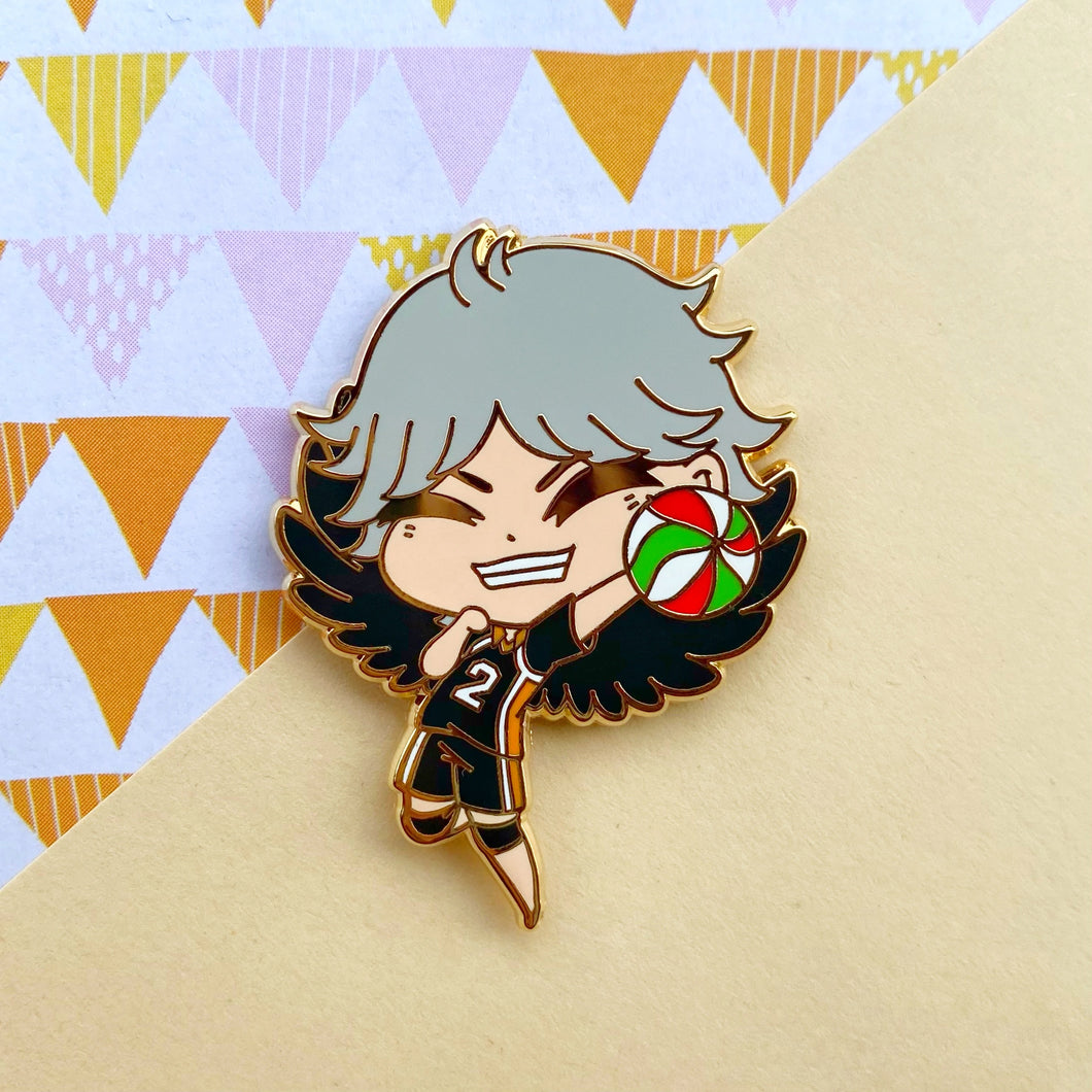 Soft Crow Volley Boy Pin