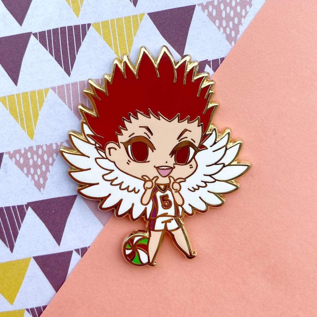 Creepy Cute Eagle Volley Boy Pin