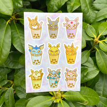 Load image into Gallery viewer, Eeveelution Boba Vinyl Sticker Sheet