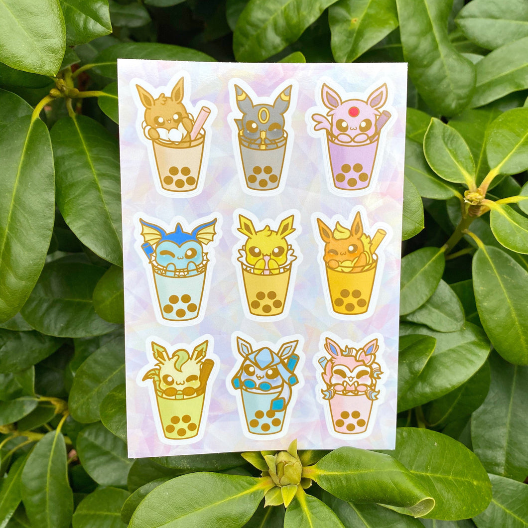 Eeveelution Boba Vinyl Sticker Sheet