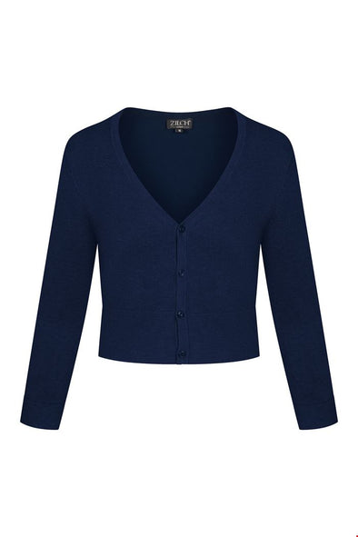 Zilch Short Navy Cardigan