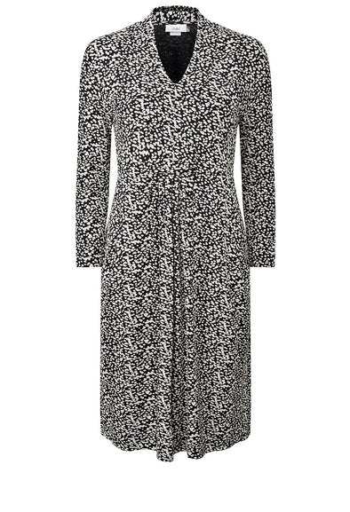 Adini Scatter Spot Print Nicole Dress - Black