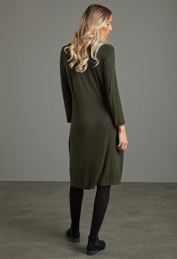Adini Viscose Jersey Sherice Dress - Olive
