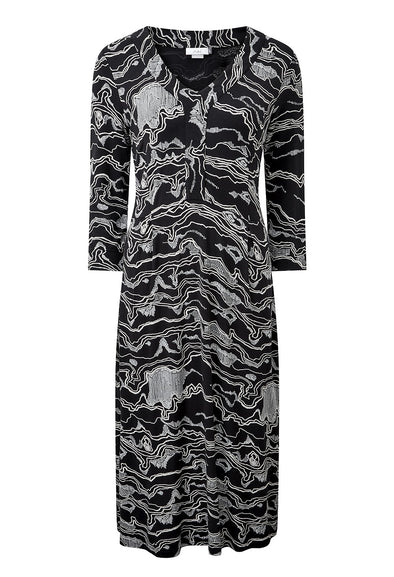 Adini Murakami Print Gina Dress - Black