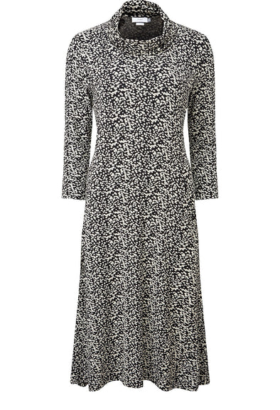 Adini Scatter Spot Print Doreen Dress - Black
