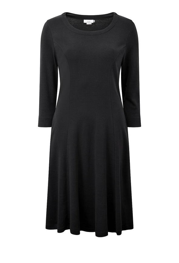 Adini Cotton Rib Kathi Dress - Black