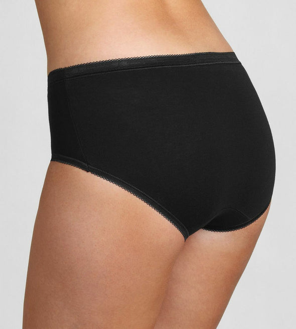 Sloggi Basic Midi Black Briefs