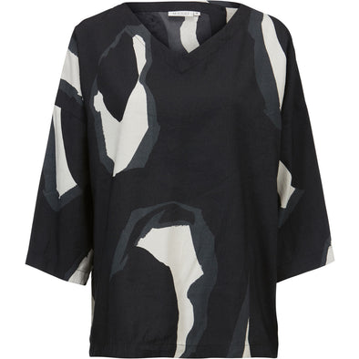 Masai DARLEEN Black and White Pattern Top
